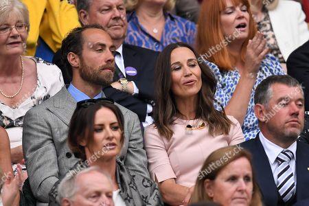 James Middleton and Pippa Middleton on Centre Court