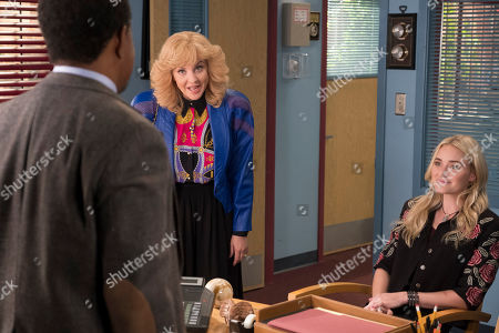 Tim Meadows as Principal John Glascott, Wendi McLendon-Covey as Beverly Goldberg and AJ Michalka as Lainey Lewis