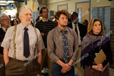 Clancy Brown as Mr. Crosby, Brett Dier as C.B. and Ana Gasteyer as Susan Cinoman