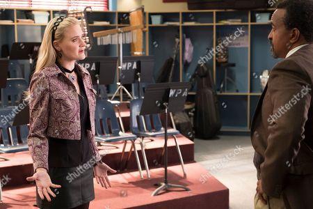 AJ Michalka as Lainey Lewis and Tim Meadows as Principal John Glascott