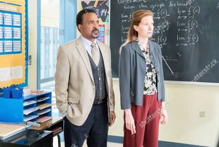 Tim Meadows as Principal John Glascott and Lennon Parham as Liz Flemming