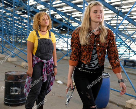 Stock Image of AJ Michalka as Lainey Lewis and Rachel Crow as Felicia