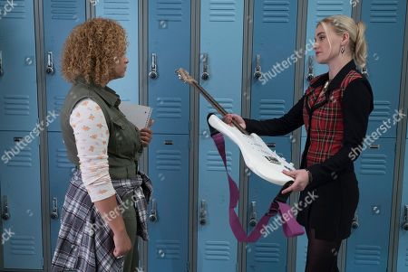 AJ Michalka as Lainey Lewis and Rachel Crow as Felicia