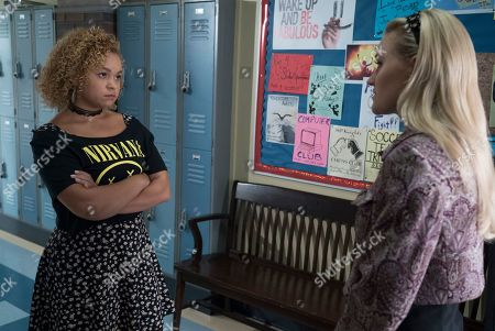 Stock Image of AJ Michalka as Lainey Lewis and Rachel Crow as Felicia