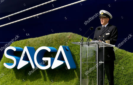 Editorial picture of Naming ceremony for Saga Groups's newest cruise chip Spirit of Discovery, Dover, Kent, UK - 05 Jul 2019