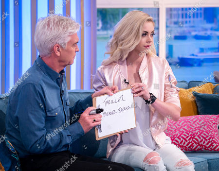 Phillip Schofield with Chloe Crawford