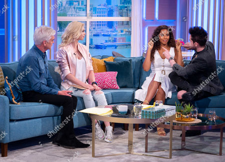 Phillip Schofield and Rochelle Humes with Chloe Crawford and Colin Cloud