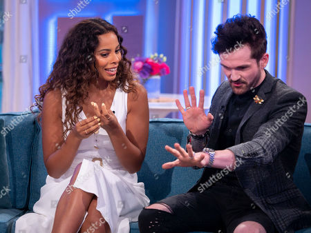 Rochelle Humes and Colin Cloud