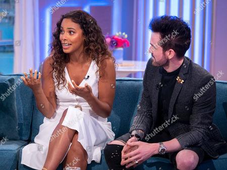 Stock Image of Rochelle Humes and Colin Cloud
