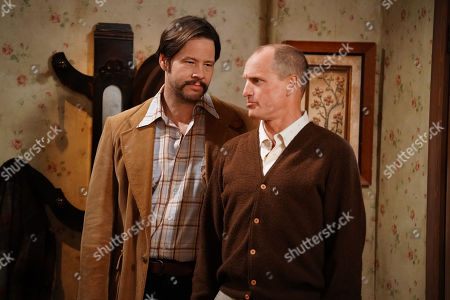 Ike Barinholtz as Mike and Woody Harrelson as Archie