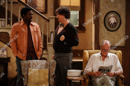 Stock Picture of Jovan Adepo as Lionel, Sean Hayes as Frank and Woody Harrelson as Archie