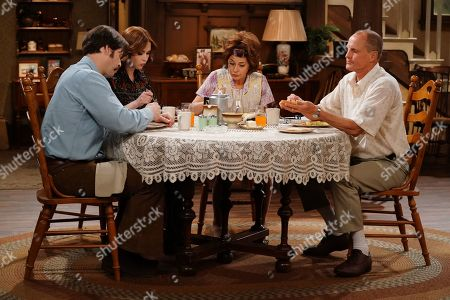 Stock Image of Ike Barinholtz as Mike, Ellie Kemper as Gloria, Marisa Tomei as Edith and Woody Harrelson as Archie