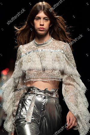 Stock Image of Mayka Merino on the catwalk