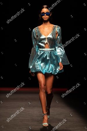 Stock Image of Daiane Sodre on the catwalk