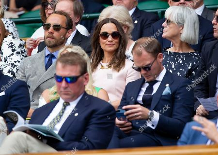 Pippa Middleton and Husband James Matthews in the Royal Box at Wimbledon on day seven of the championships
