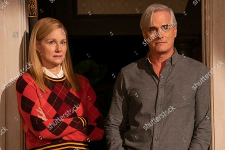 Laura Linney as Mary Ann Singleton and Paul Gross as Brian Hawkins