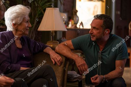 Olympia Dukakis as Anna Madrigal and Alan Poul as Director