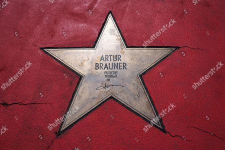 Star of Artur Brauner (1918 - 2019) on the Boulevard of Stars in Berlin, Germany, 08 July 2019. The German film producer and entrepreneur of Polish origin has died aged 100 on 07 July 2019.