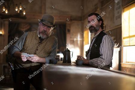 Stock Photo of W. Earl Brown as Dan Dority and Sean Bridgers as Johnny Burns
