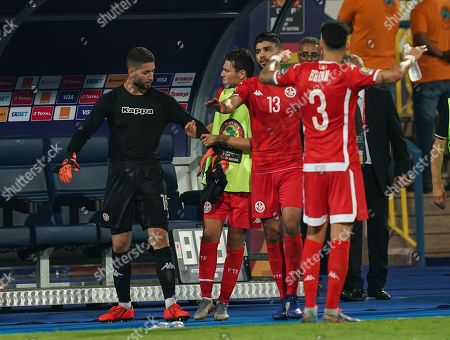 FRANCE OUT Hassen Mouez of Tunisia after being substituted in the last minute of extended time during the African Cup of Nations match between Ghana and Tunisia at the Ismailia Stadium in Ismailia, Egypt