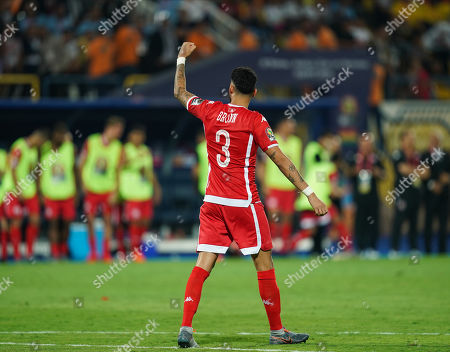 FRANCE OUT Ferjani Sassi of Tunisia after scoring during the African Cup of Nations match between Ghana and Tunisia at the Ismailia Stadium in Ismailia, Egypt