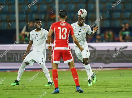 FRANCE OUT Afriyie Acquah of Ghana and Ferjani Sassi of Tunisia during the African Cup of Nations match between Ghana and Tunisia at the Ismailia Stadium in Ismailia, Egypt