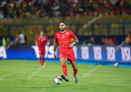 FRANCE OUT Dylan Daniel Mahmoud Bronn of Tunisia during the African Cup of Nations match between Ghana and Tunisia at the Ismailia Stadium in Ismailia, Egypt