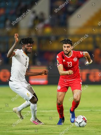 FRANCE OUT Ferjani Sassi of Tunisia during the African Cup of Nations match between Ghana and Tunisia at the Ismailia Stadium in Ismailia, Egypt