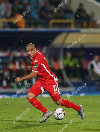 FRANCE OUT Wahbi Khazri of Tunisia during the African Cup of Nations match between Ghana and Tunisia at the Ismailia Stadium in Ismailia, Egypt