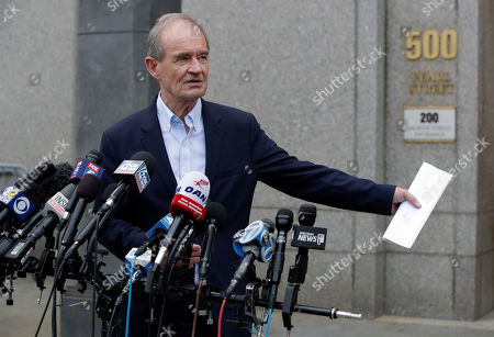 David Boies, attorney for the alleged sex victims of the US financier Jeffrey Epstein case addresses the media outside the United States Federal Court in New York, New York, USA, 08 July 2019. According to reports, US financier Jeffrey Epstein who was arrested on 08 July 2019 on sex trafficking and conspiracy charges, has been formally charged with two sex trafficking counts.
