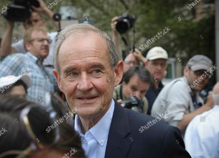 Victim lawyer Sigrid David Boies leaves after a hearing at Manhattan Federal Court, in New York, for financier Jeffrey Epstein, was arrested in New York on sex trafficking charges