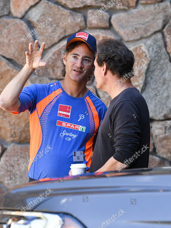Stock Photo of Alex Karp, CEO of Palantir Technologies and Dan Schulman, President and CEO of PayPal
