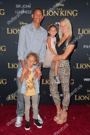 Reggie Miller, Laura Laskowski and family