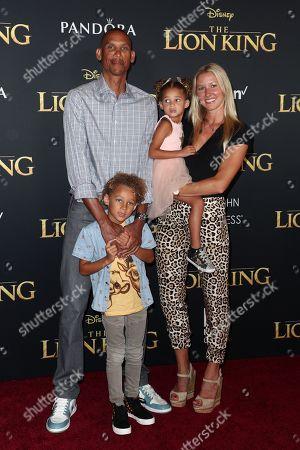 Stock Photo of Reggie Miller, Laura Laskowski and family