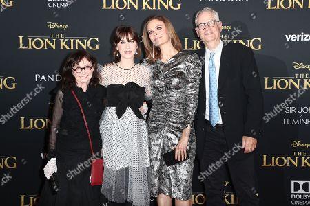 Stock Image of Mary Jo Deschanel, Zooey Deschanel, Emily Deschanel and Caleb Deschanel