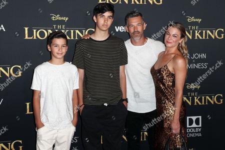 Stock Image of Mason Cibrian, Jake Cibrian, Eddie Cibrian and LeAnn Rimes