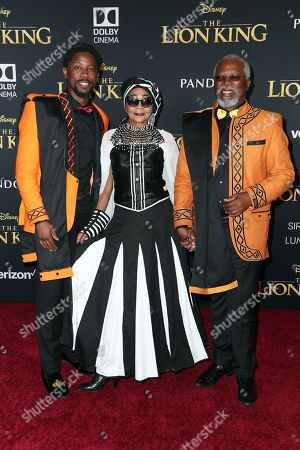 Stock Photo of Atandwa Kani, Mandi Kani and John Kani