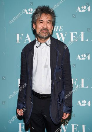 "Playwright David Henry Hwang attends a special screening of ""The Farewell"" at Metrograph, in New York"
