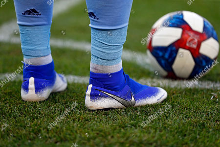 New York City defender Ronald Matarrita (22) waits to take a corner kick during an MLS soccer match against the Portland Timbers, in New York. The Timbers won 1-0