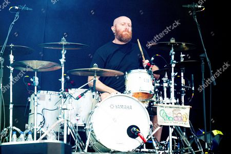 Justin Foley of Killswitch Engage performs during the Festival d'ete de Quebec, in Quebec City, Canada