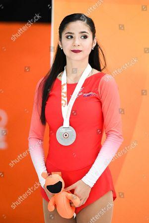 Junior Ladies Solo Dance silver medalist Maria Sophia Veileuva from Paraguay