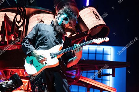Jim Root of Slipknot performs during the Festival d'ete de Quebec, in Quebec City, Canada