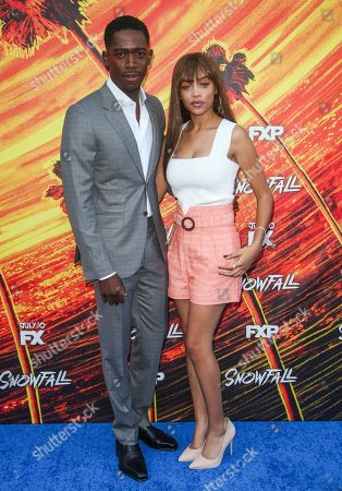 Stock Photo of Damson Idris and Reign Edwards
