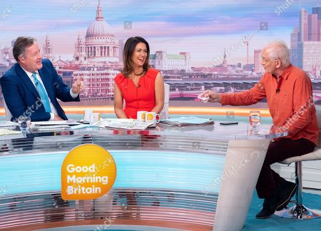 Piers Morgan and Susanna Reid with David Gower