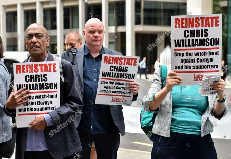 Editorial image of Labour NEC protest for Chris Williamson, London, UK - 09 Jul 2019.