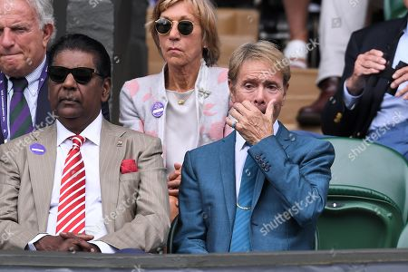 Vijay Amritraj and Sir Cliff Richard on Centre Court