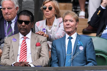 Stock Photo of Vijay Amritraj and Sir Cliff Richard on Centre Court