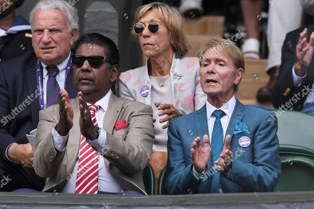 Stock Image of Vijay Amritraj and Sir Cliff Richard on Centre Court