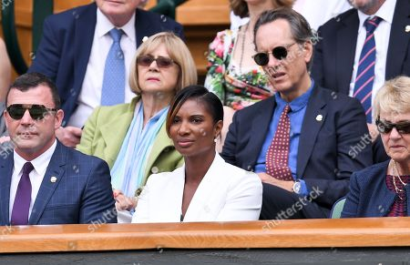 Denise Lewis on Centre Court