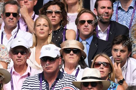Stock Picture of Thomas Kingston and Lady Gabriella Windsor on Centre Court
